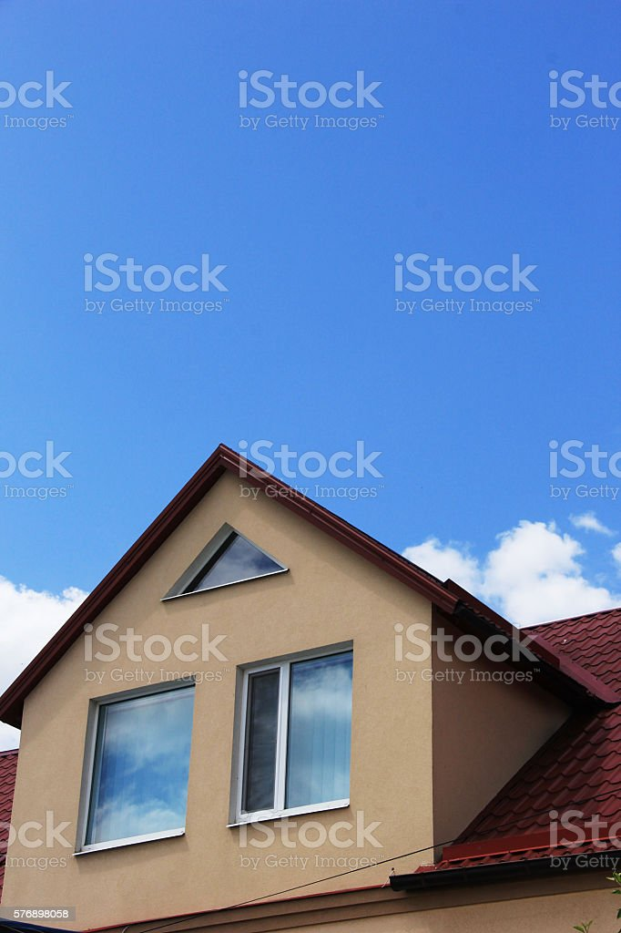 Contemporary window against a blue sky stock photo