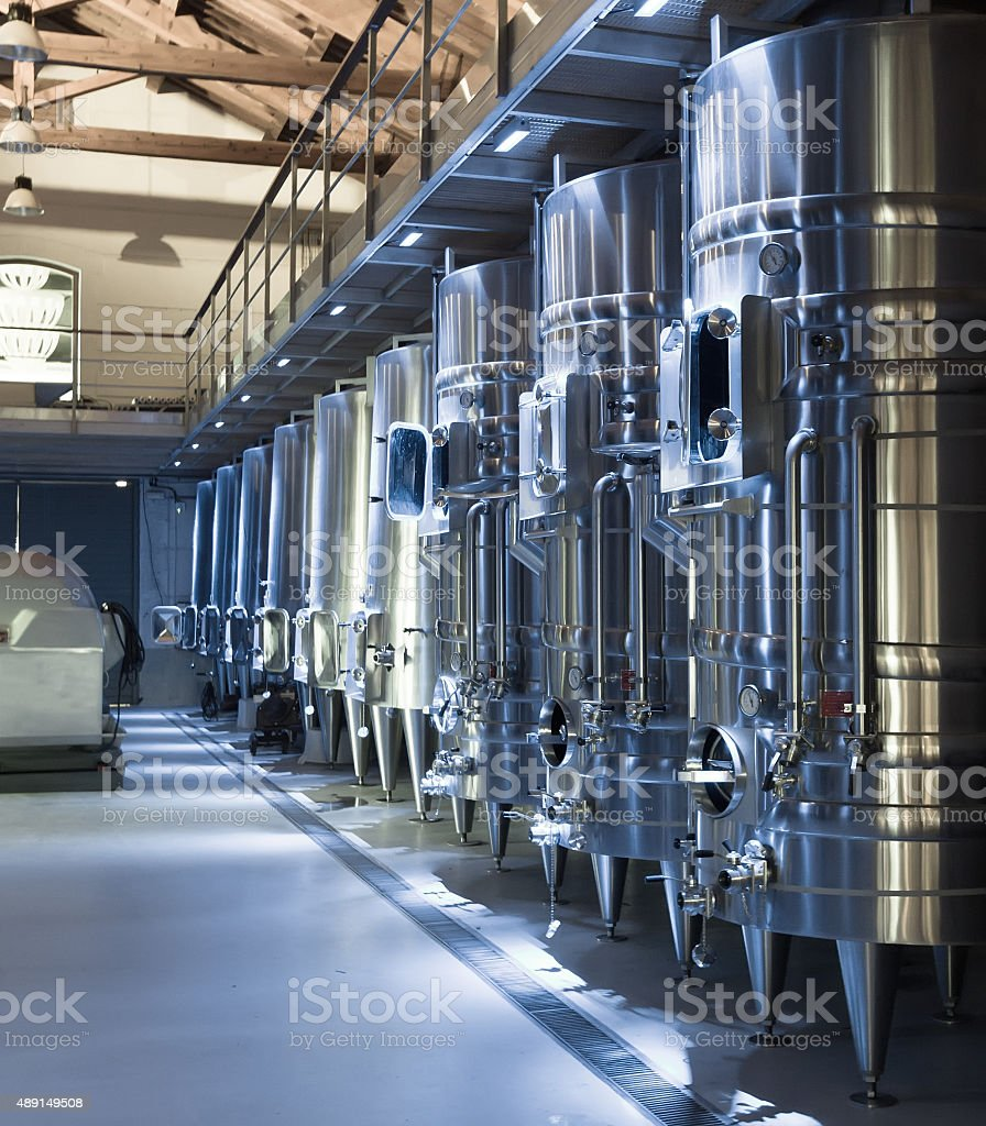 contemporary winemaker factory stock photo