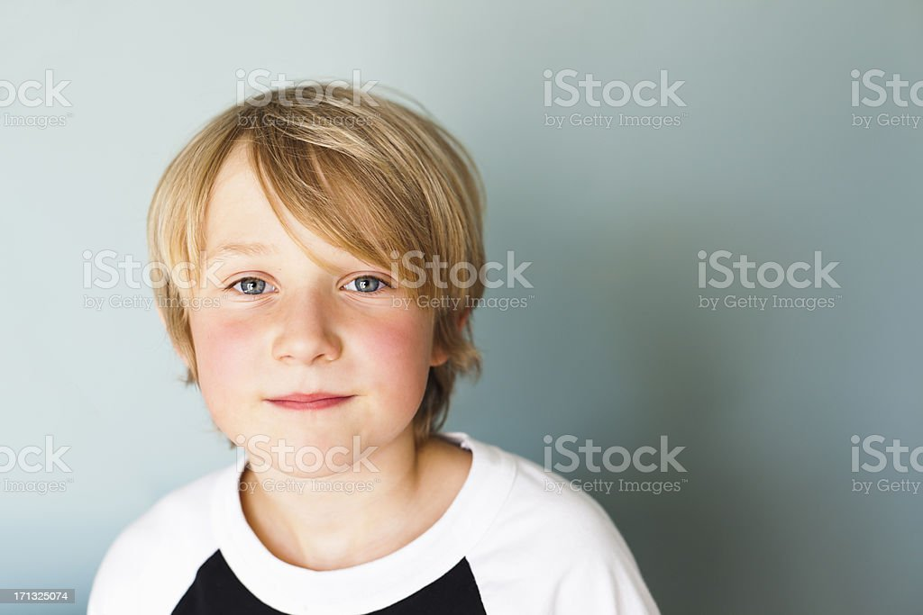 Content 9 Year Old stock photo