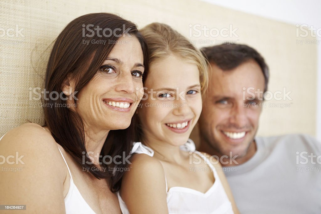 Content and loving family royalty-free stock photo