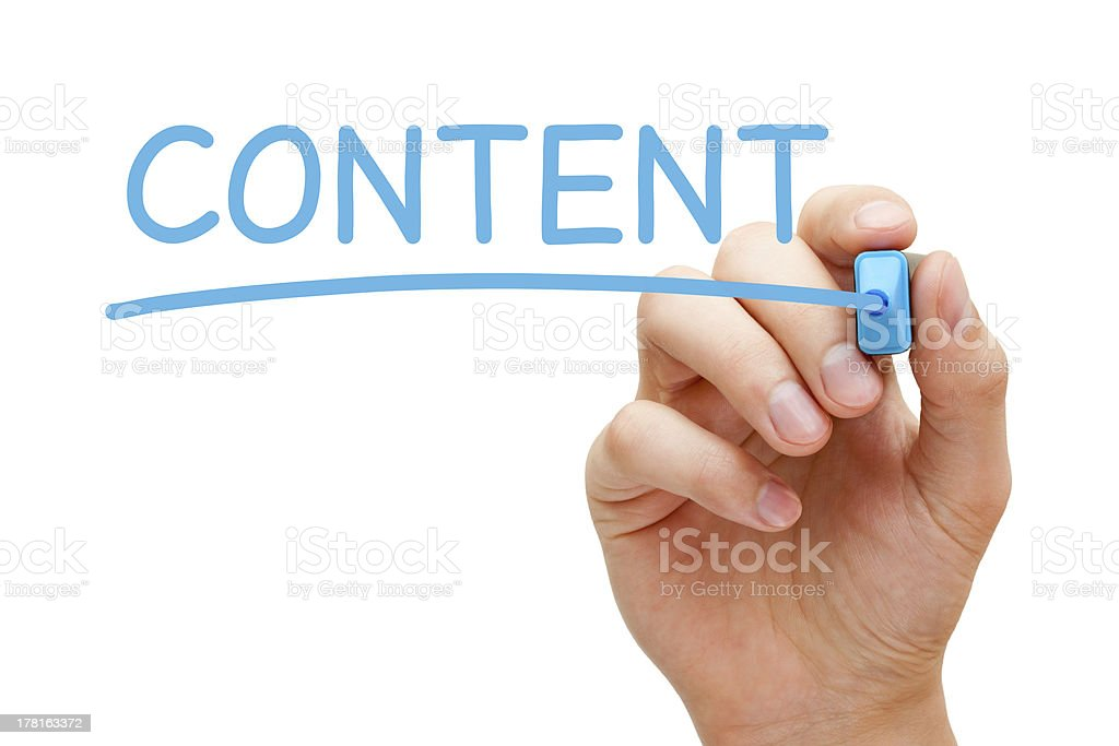 Content Blue Marker royalty-free stock photo