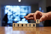 Content Concept with Alphabet Blocks