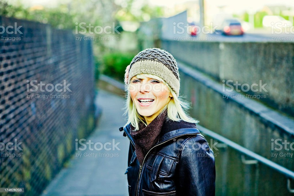 Content Girl royalty-free stock photo