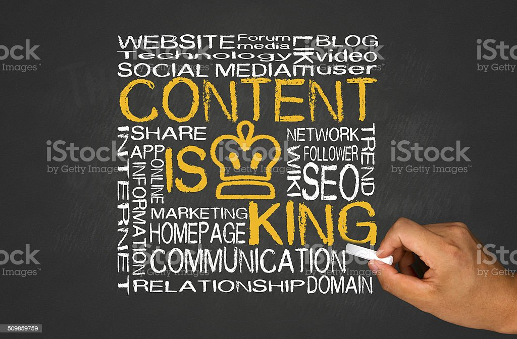 content is king stock photo