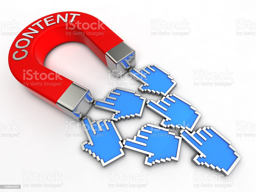 Content magnet royalty-free stock photo