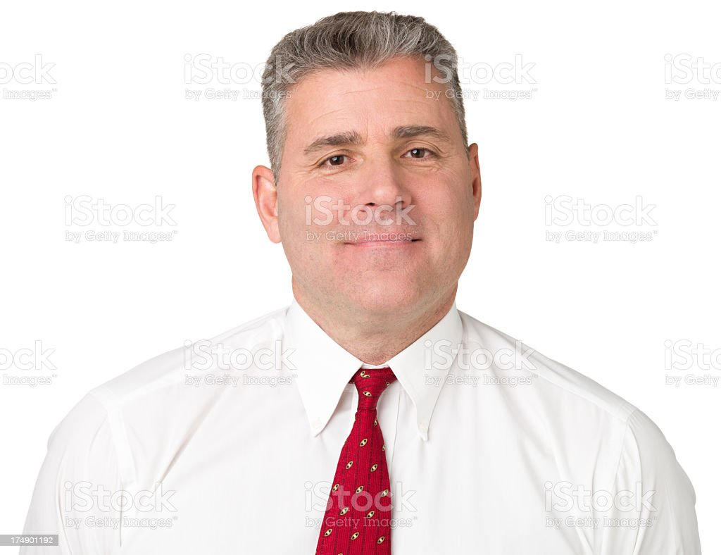 Content Man In Shirt And Tie royalty-free stock photo