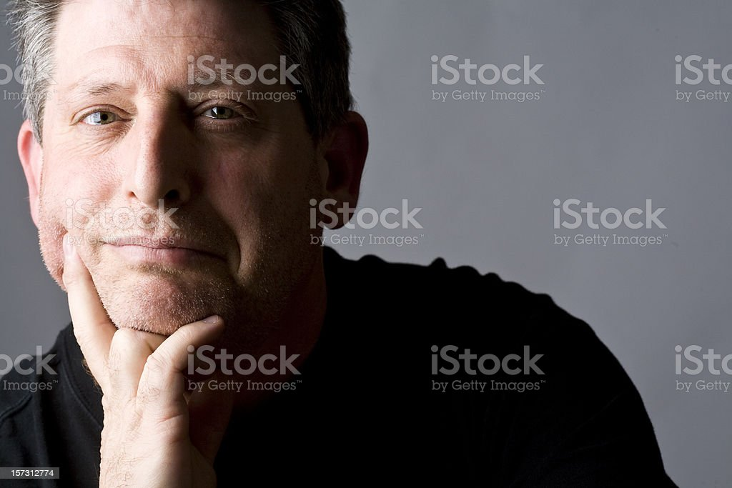 Content Man royalty-free stock photo