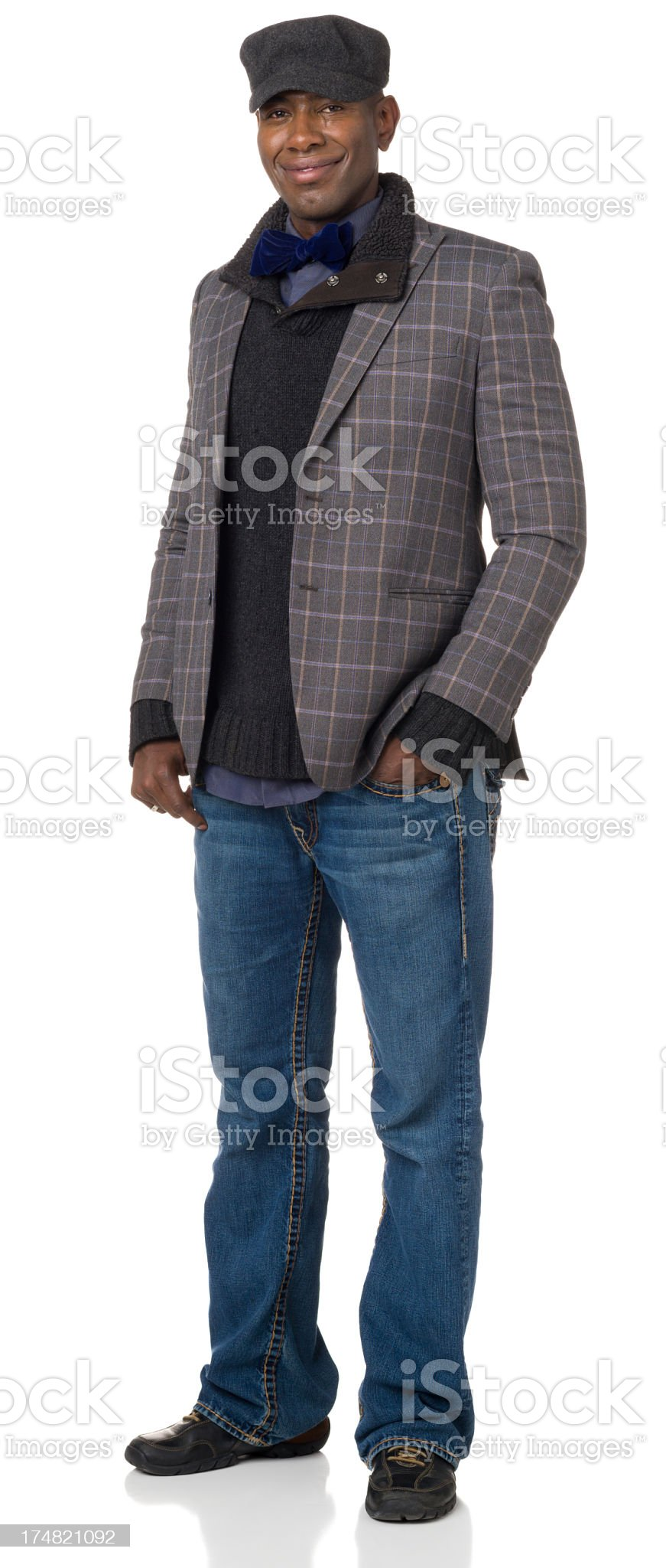 Content Man Standing Portrait royalty-free stock photo