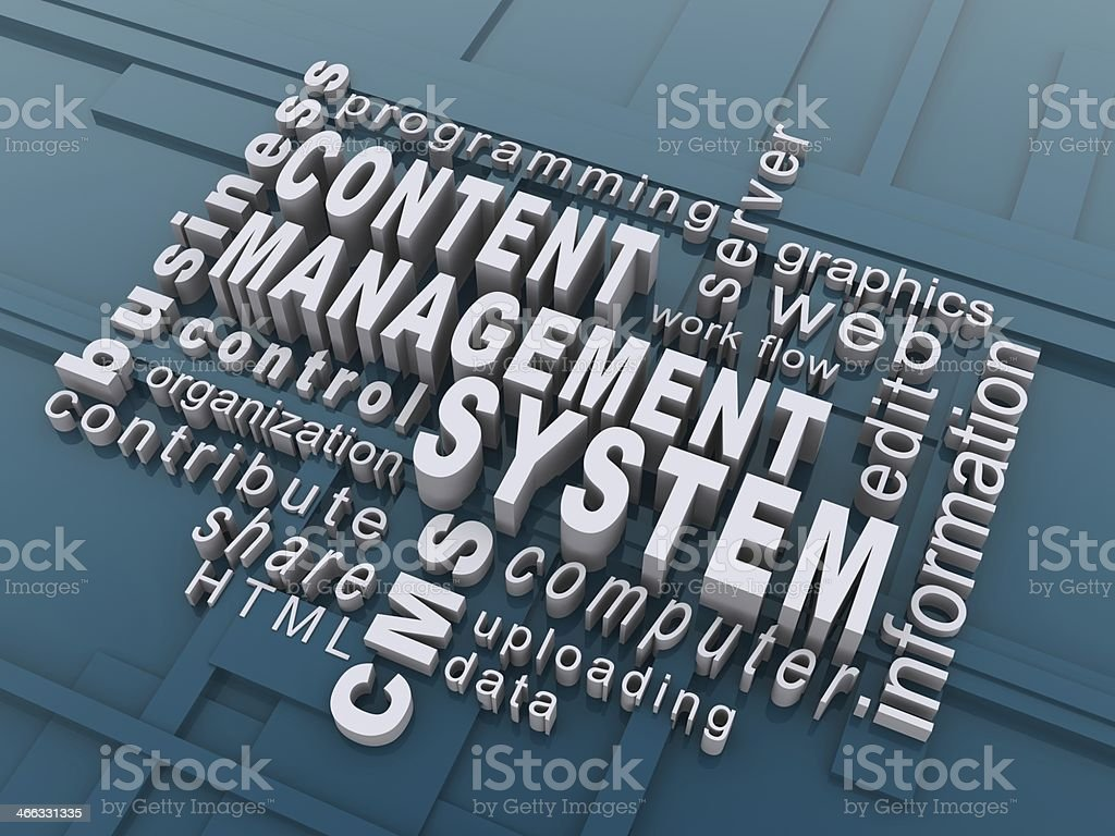Content Manage System for computer systems and information stock photo