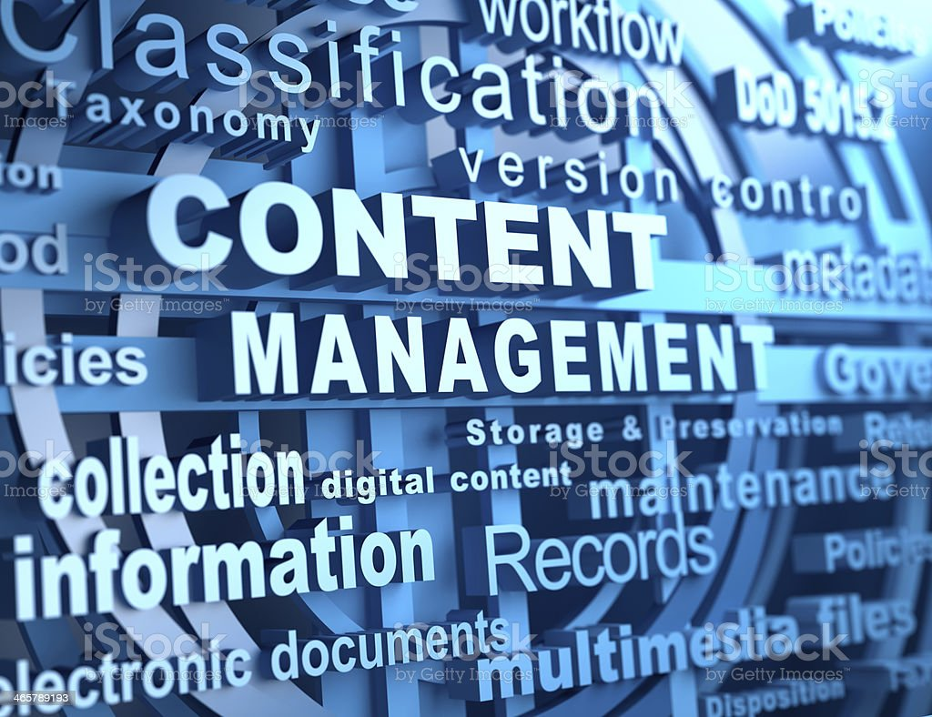 Content management stock photo