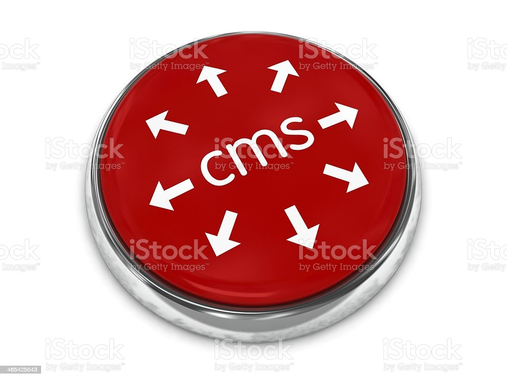 Content management system CMS stock photo