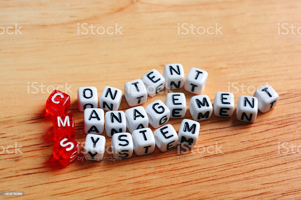 CMS Content Management System stock photo