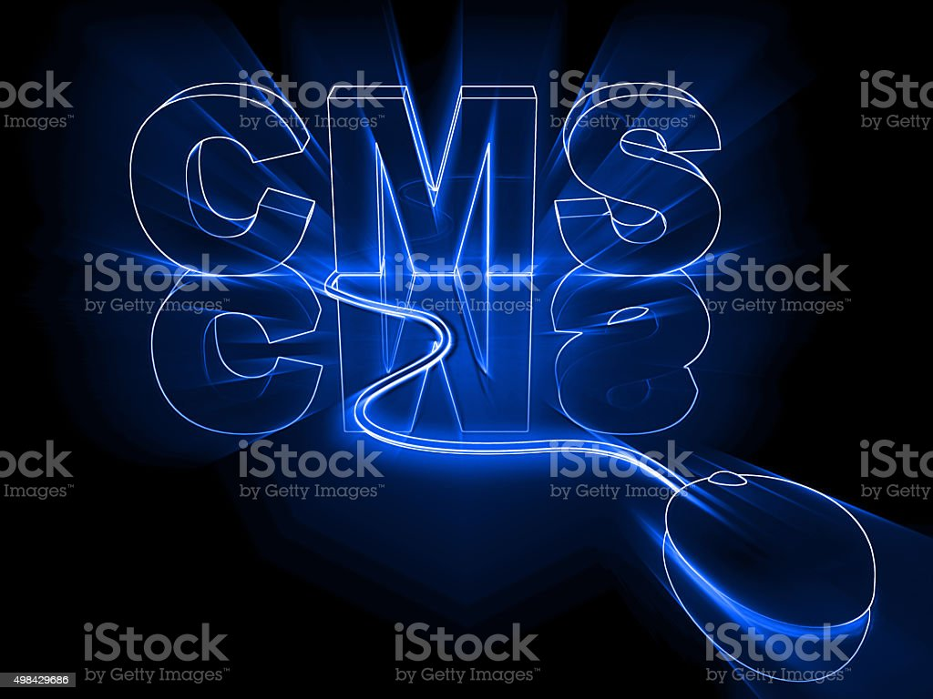 Content management system stock photo