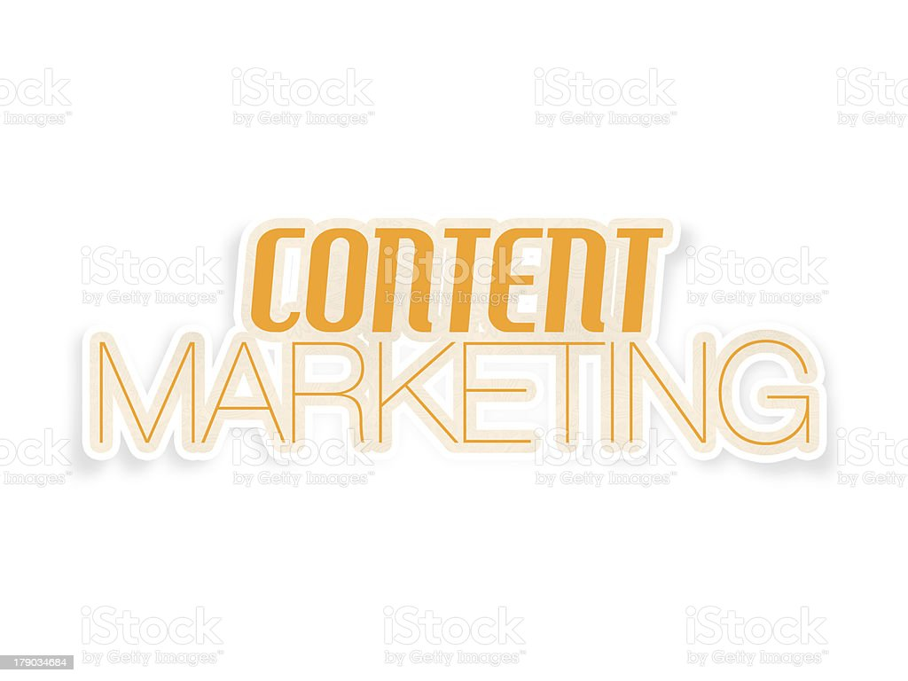 Content Marketing, Web Strategy, Copywriting and Authority royalty-free stock photo