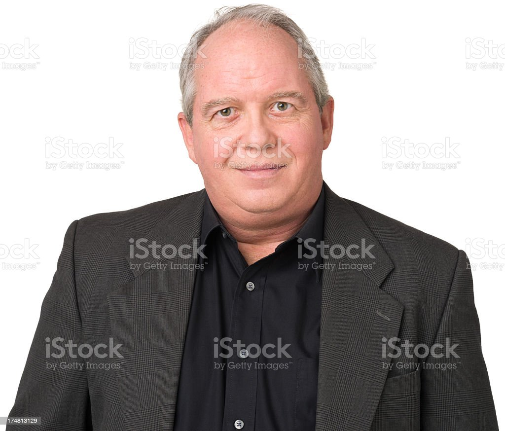 Content Mature Man royalty-free stock photo