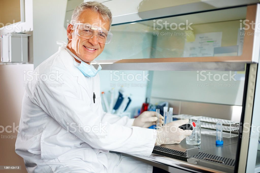 Content medical researcher royalty-free stock photo