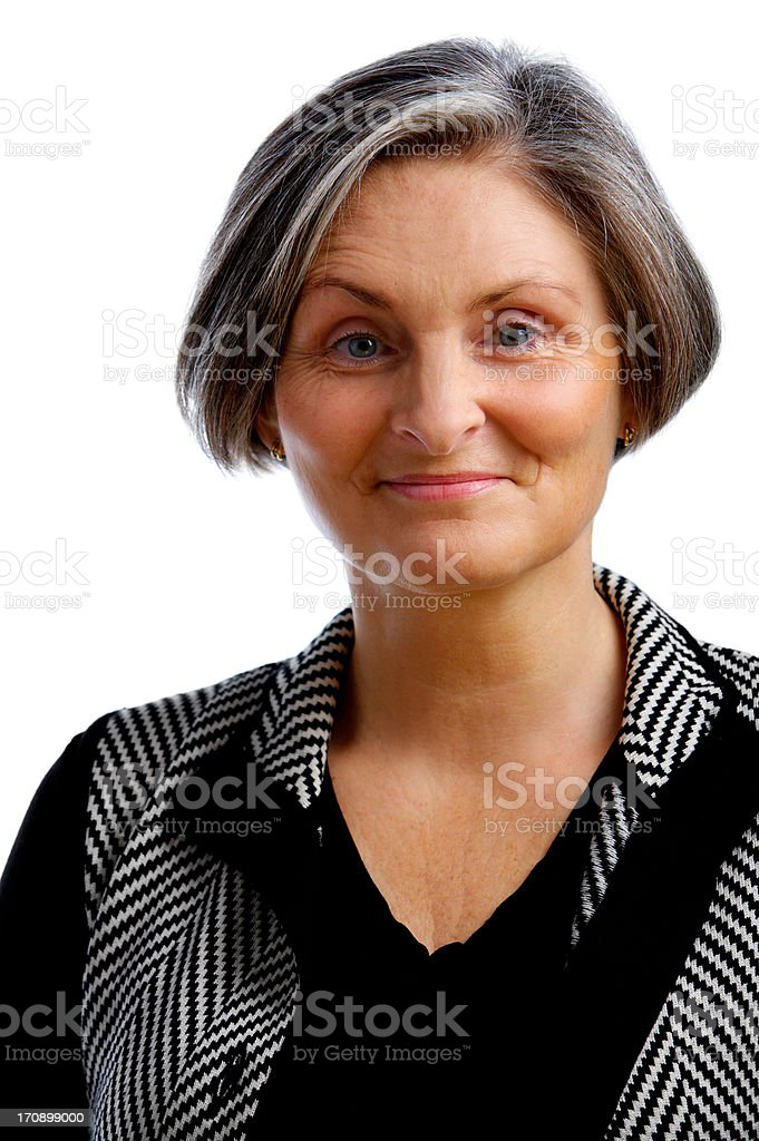 Content Older Businesswoman royalty-free stock photo