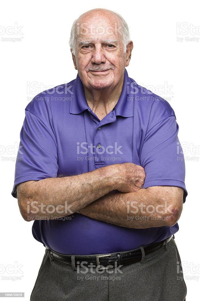 Content Senior Man royalty-free stock photo