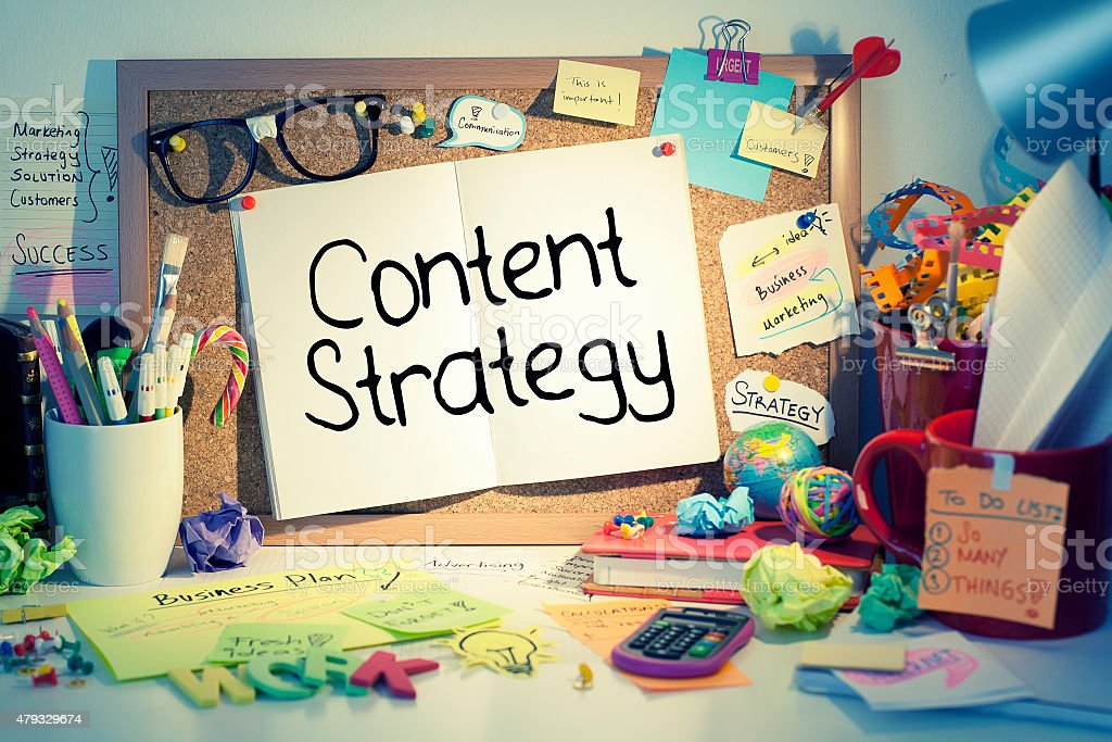 Content Strategy Concept stock photo