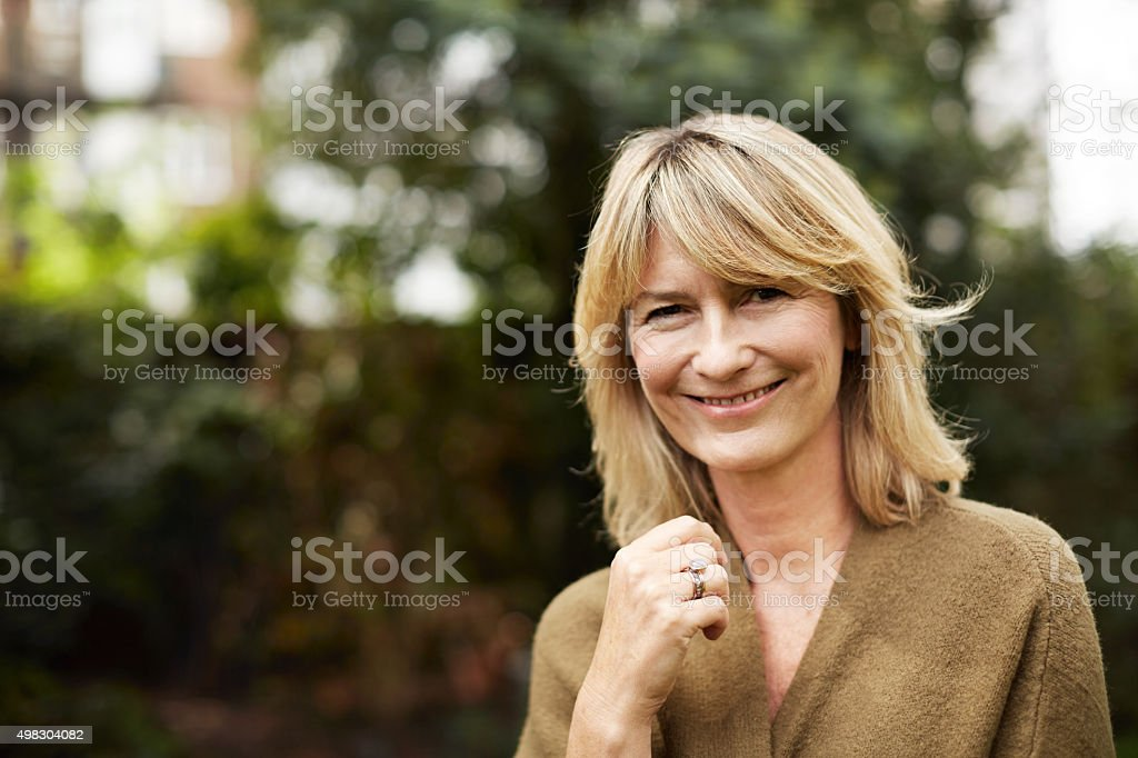 Content with life stock photo