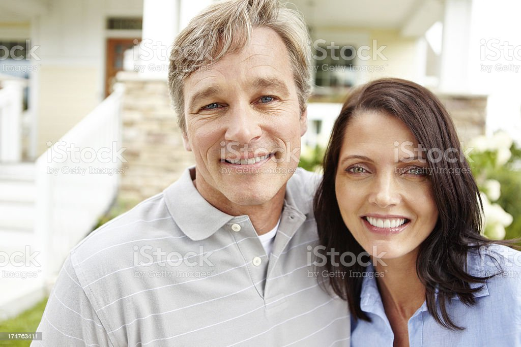 Content with the life they've built together royalty-free stock photo