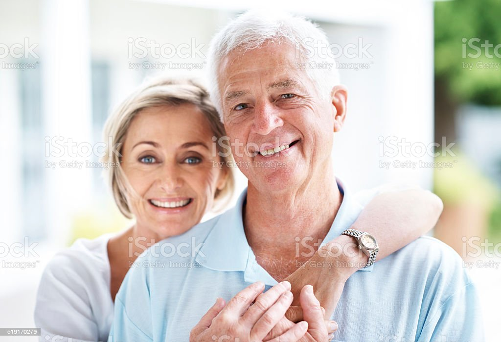 Content would describe us best stock photo
