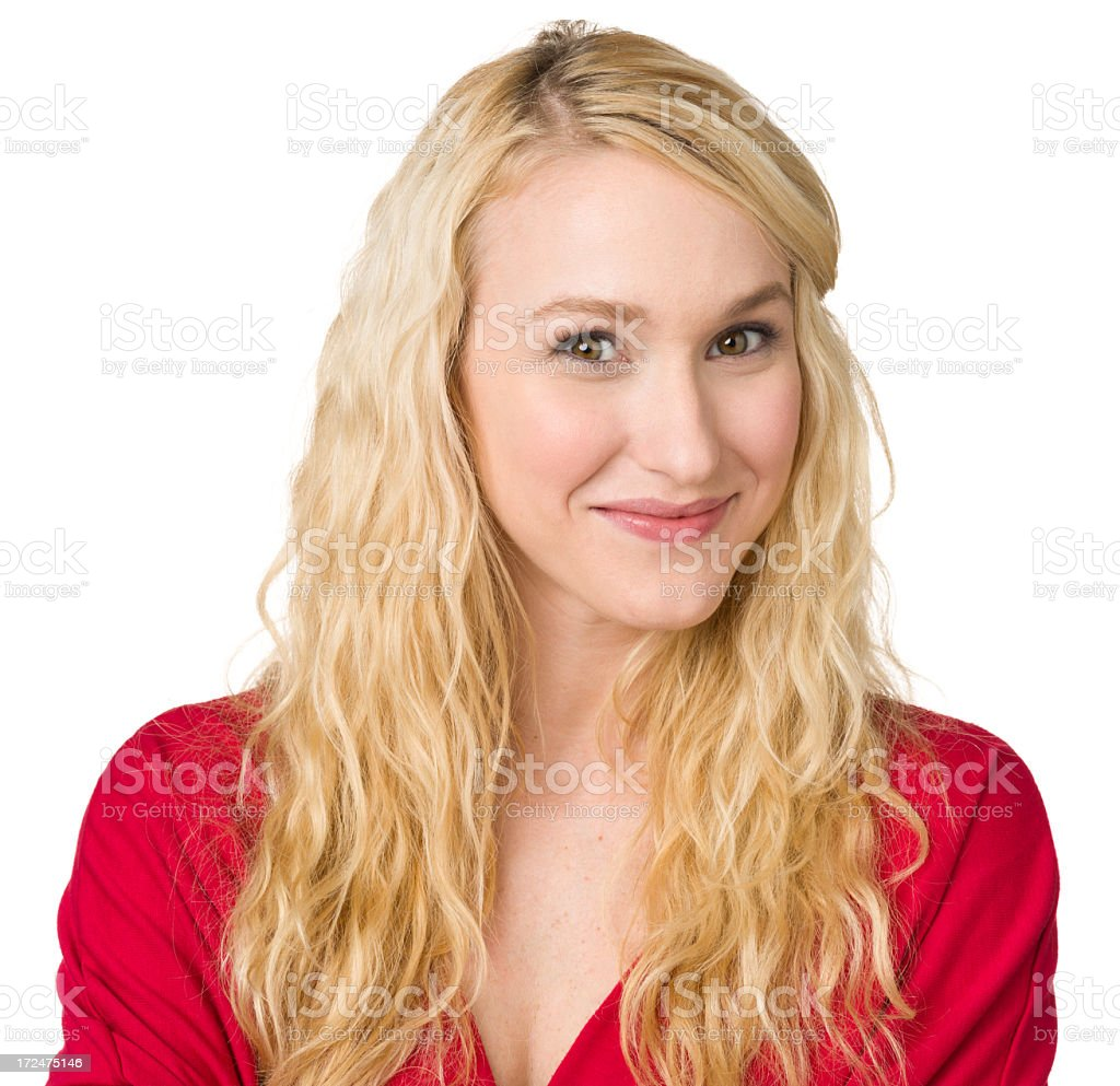 Content Young Woman Close-up Portrait royalty-free stock photo