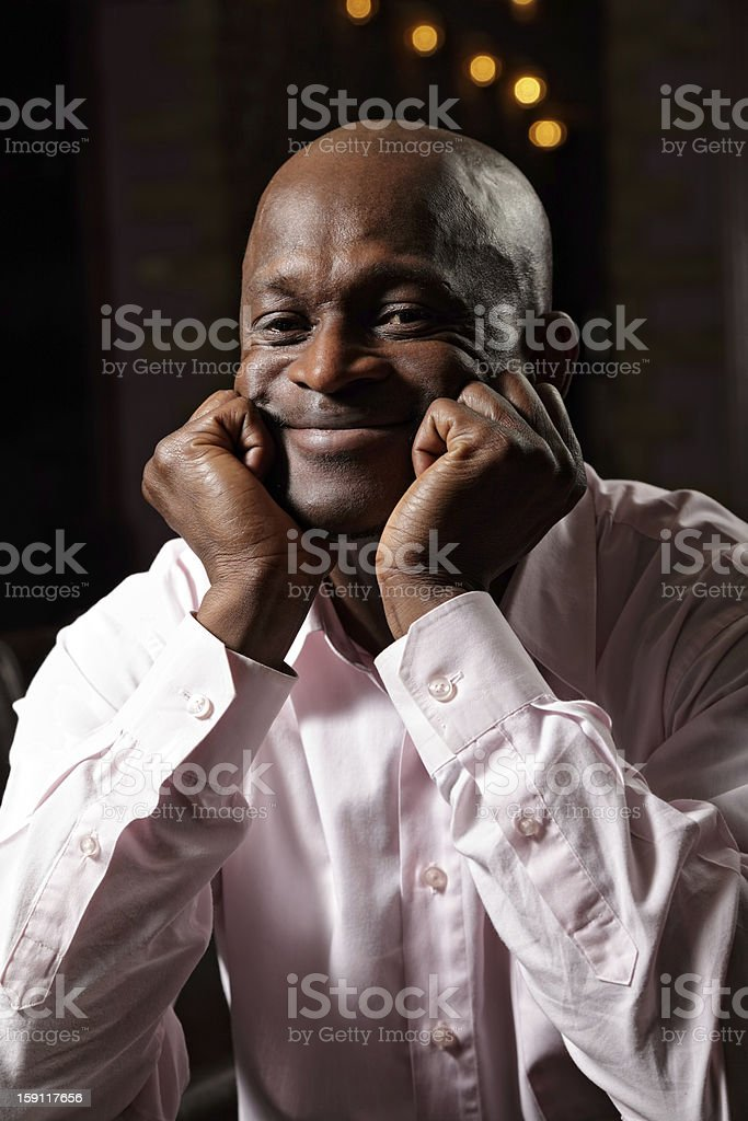 Contented african man royalty-free stock photo