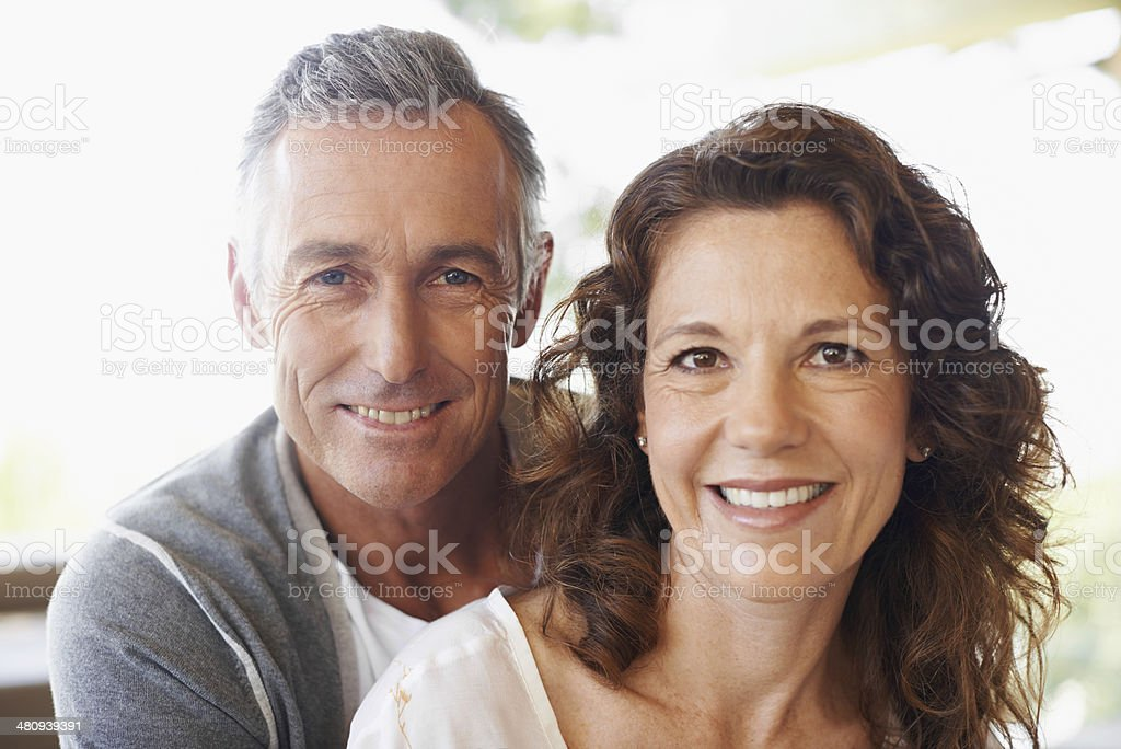 Contented in their marriage stock photo
