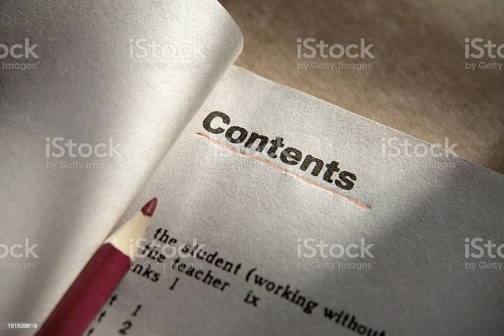 contents royalty-free stock photo