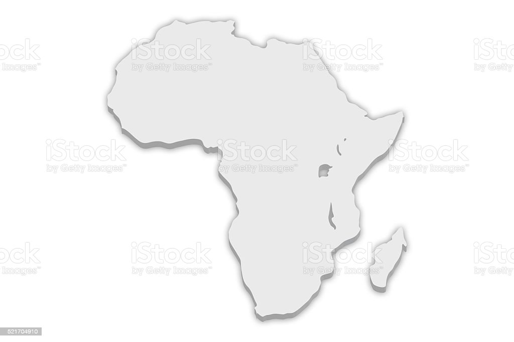 Continent Map: Africa stock photo