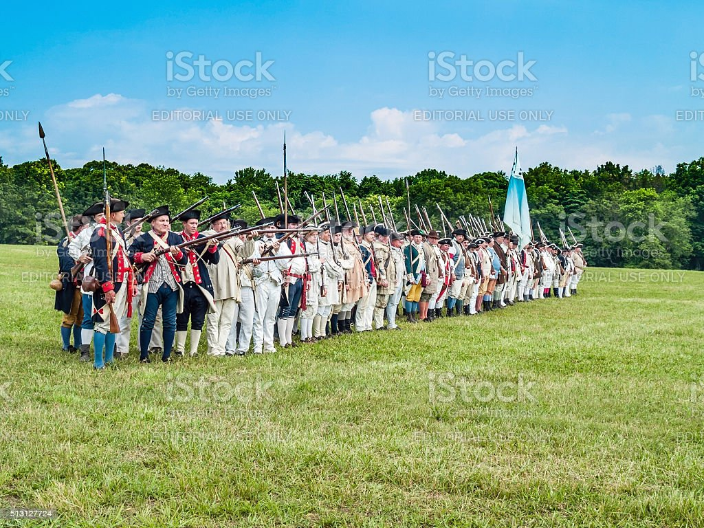 Continental Army stock photo