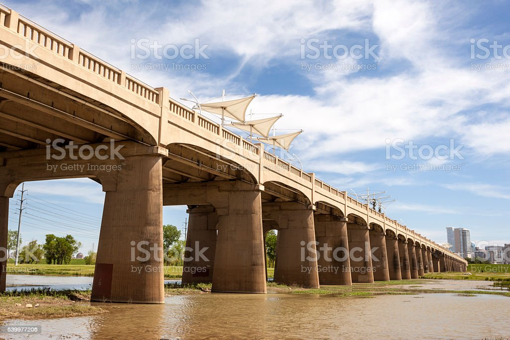 Continental Avenue Bridge in Dallas, USA stock photo