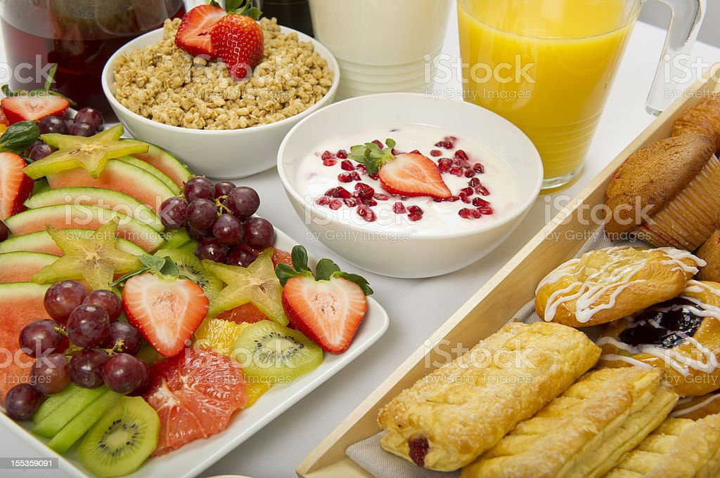 Continental Breakfast Buffet stock photo