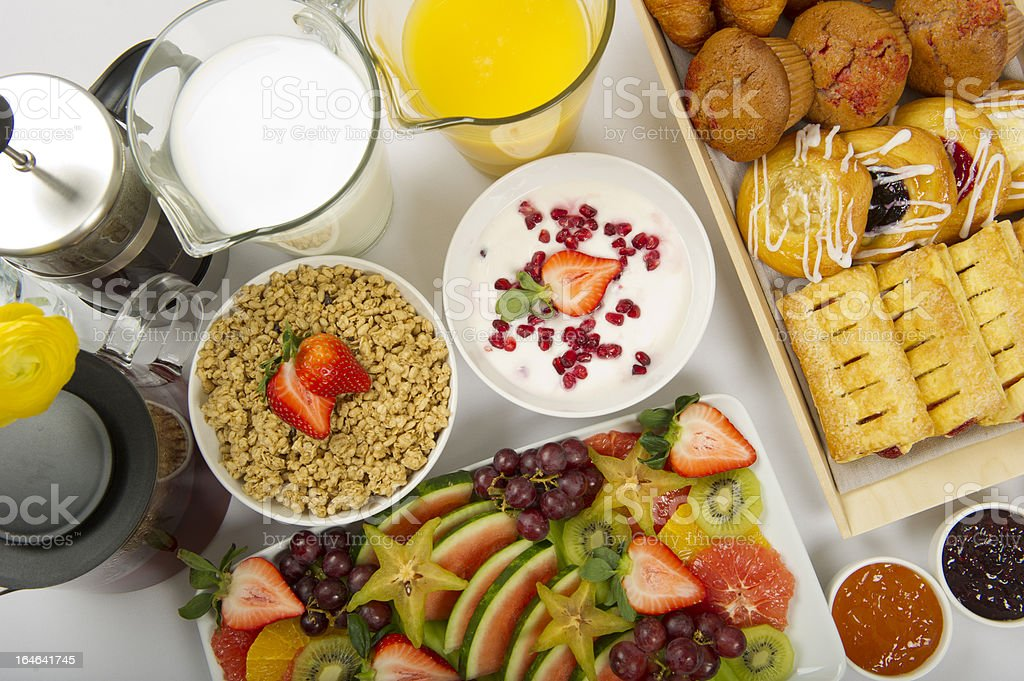 Continental Breakfast Buffet royalty-free stock photo