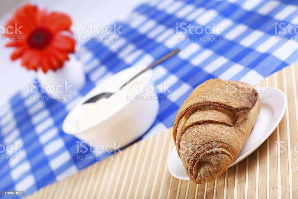 Continental breakfast stock photo
