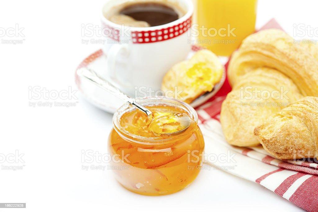 Café-da-manhã Continental foto royalty-free
