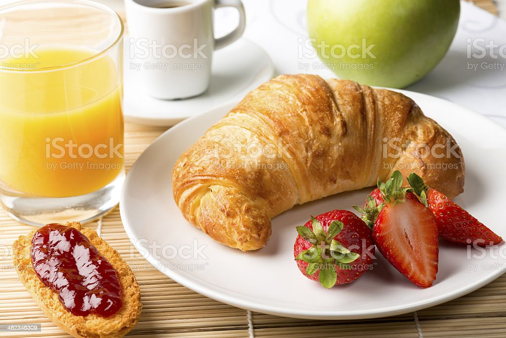 continental breakfast stock photo