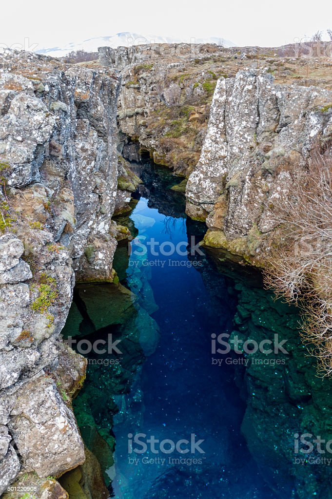 Continental Divide Iceland I stock photo
