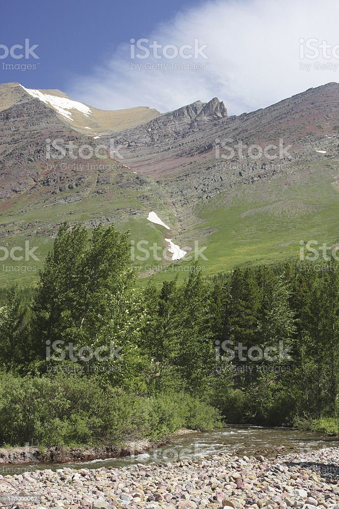 Continental Divide Rocky Mountain Wilderness Ridge stock photo