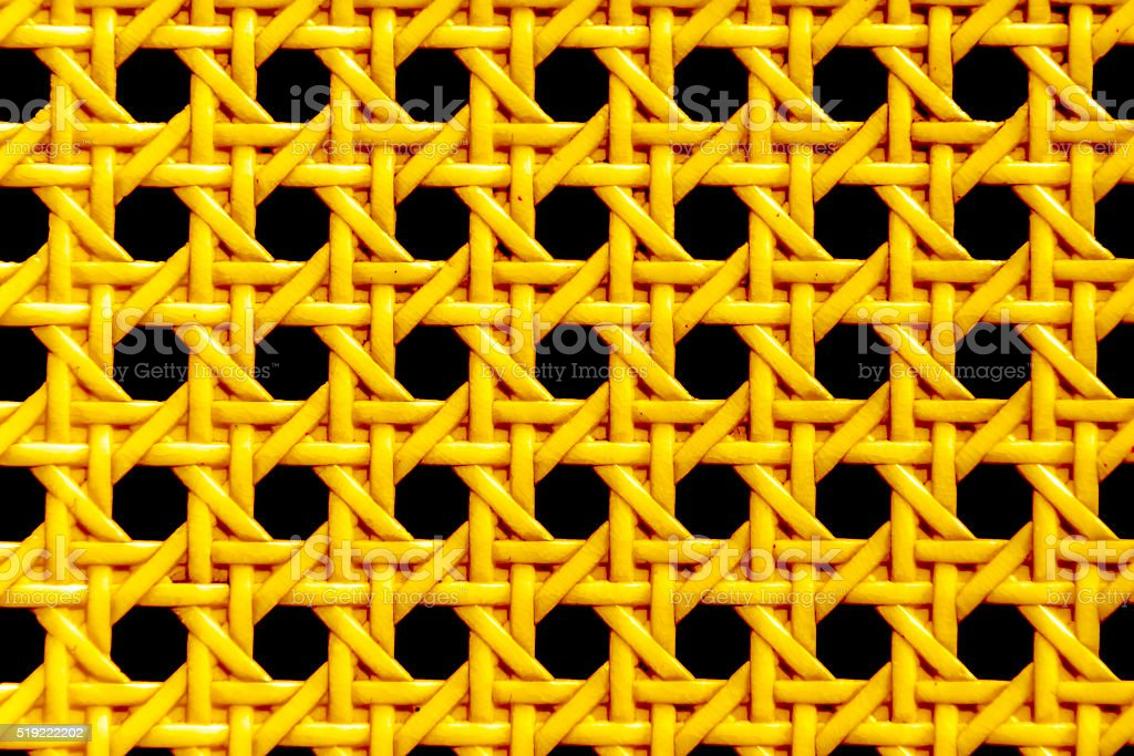 Continuous golden weave pattern stock photo