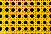 Continuous golden weave pattern