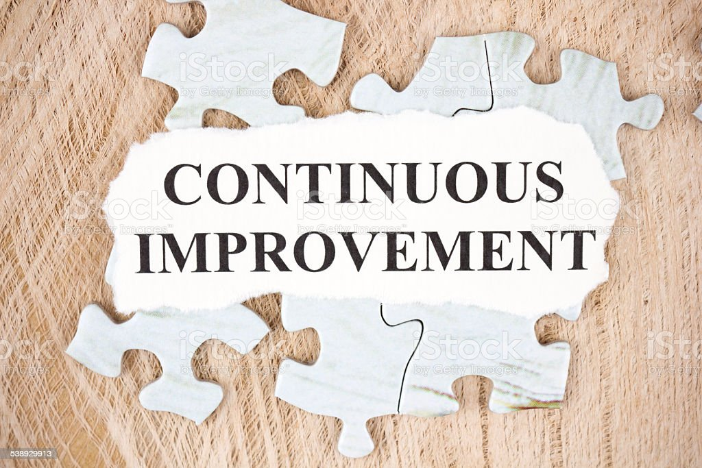 Continuous improvement stock photo