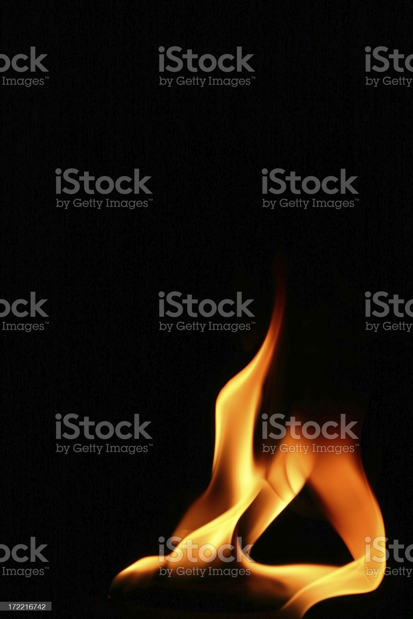 Contorted Flame royalty-free stock photo