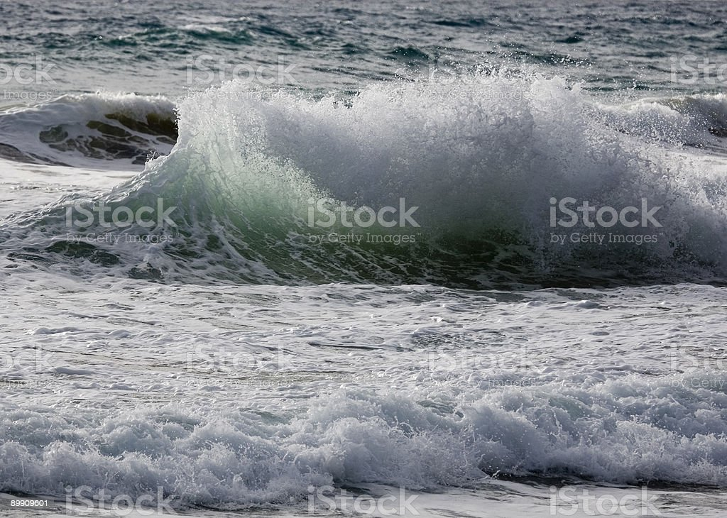 Contorted wave exploding in stormy surf 2 royalty-free stock photo