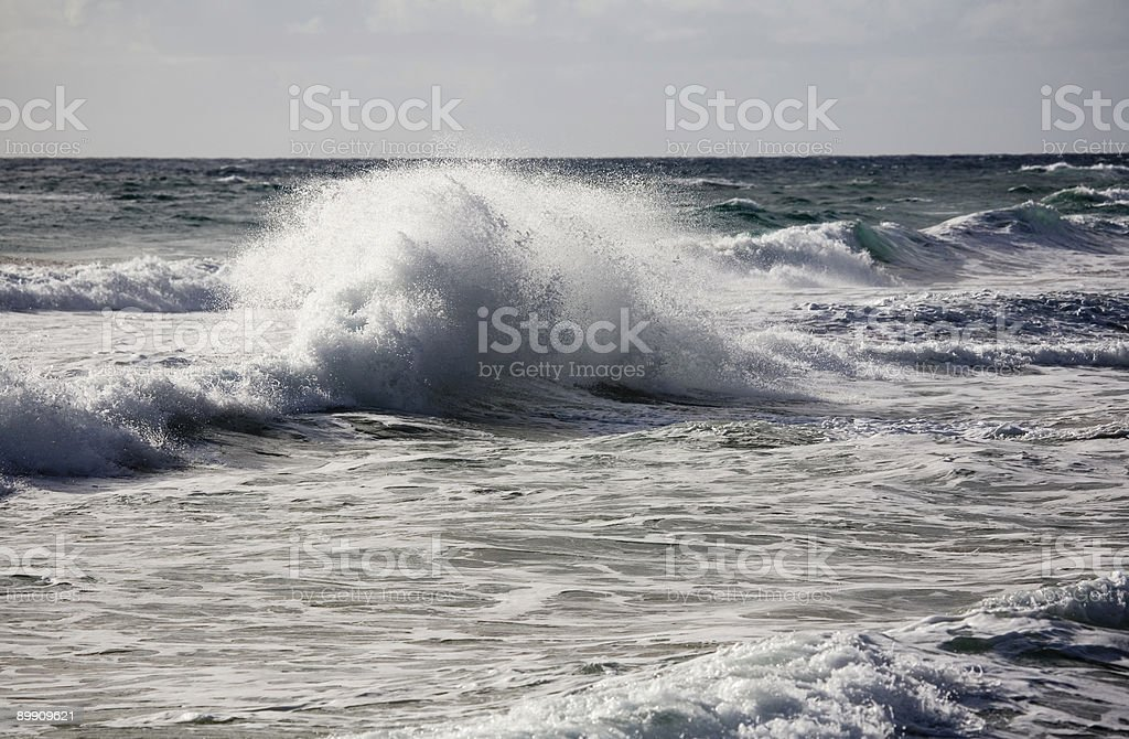 contorted wave exploding in stormy surf 3 royalty-free stock photo