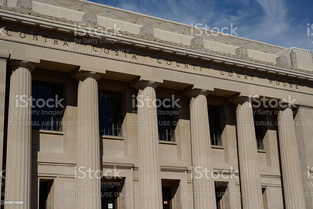 Contra Costa County Court House stock photo