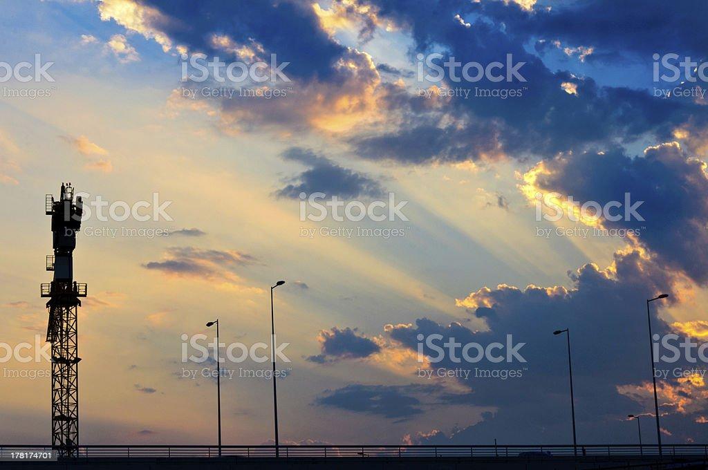 Contra light royalty-free stock photo