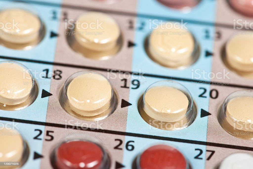 Contraceptive pills stock photo