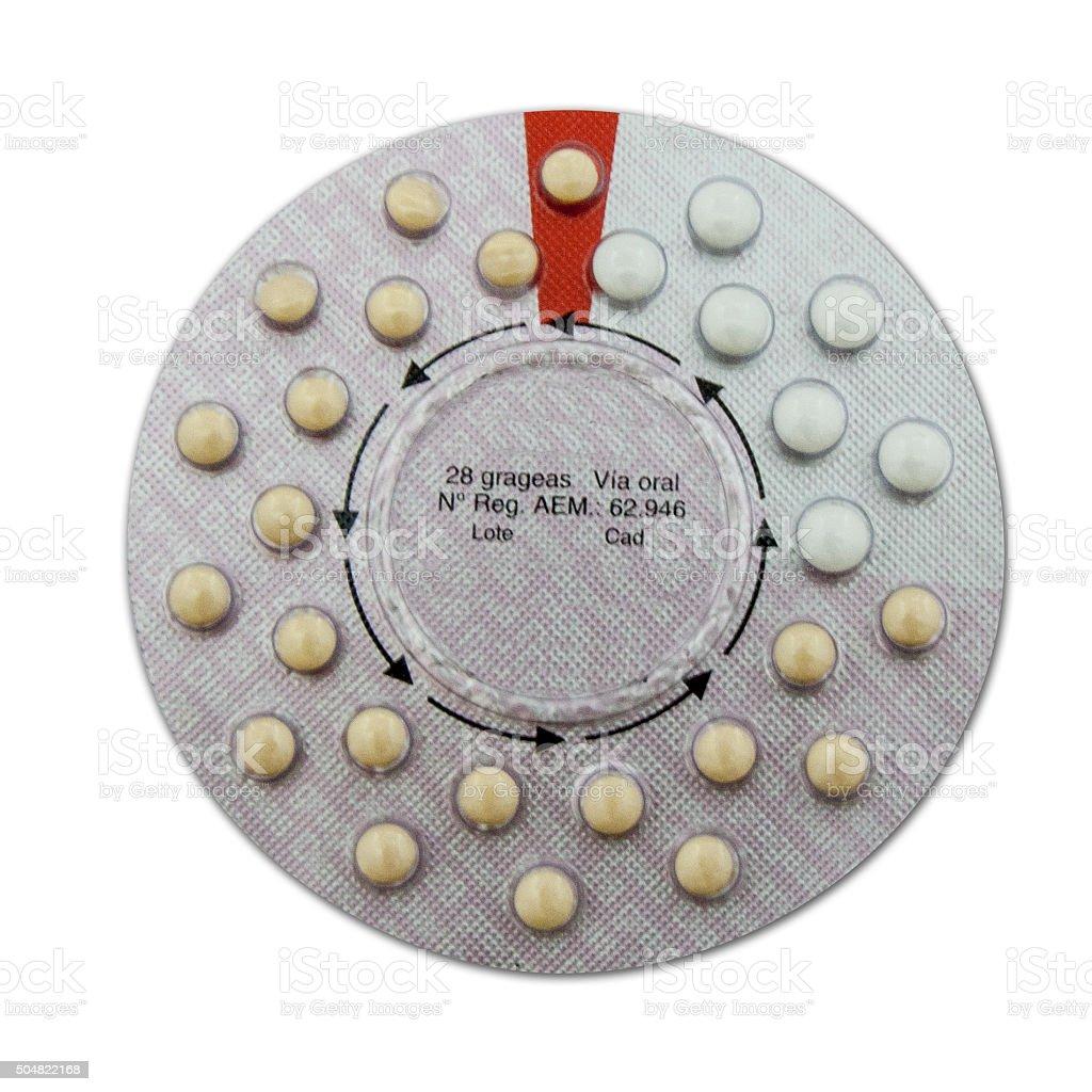 Contraceptive pills stock photo